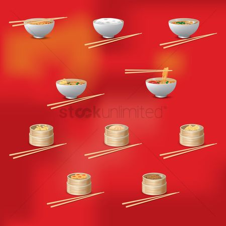 Topping : Set of chinese dishes