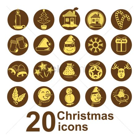 Sack : Set of christmas icons