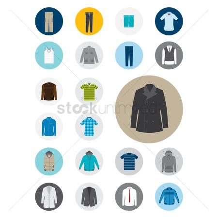 Fashions : Set of clothes icon