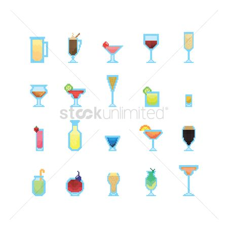 Straw : Set of cocktail and drink