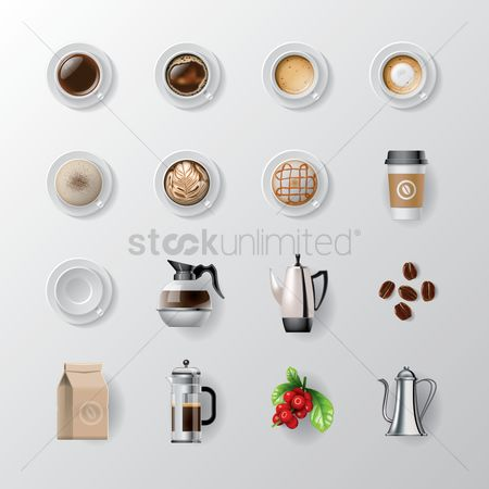 Coffee : Set of coffee icons