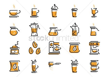Sack : Set of coffee icons