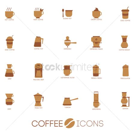 Drips : Set of coffee icons