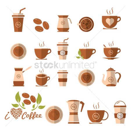 Flavor : Set of coffee icons
