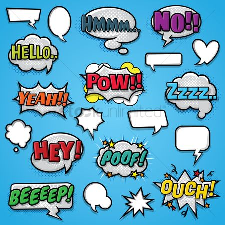 Communication : Set of comic bubbles