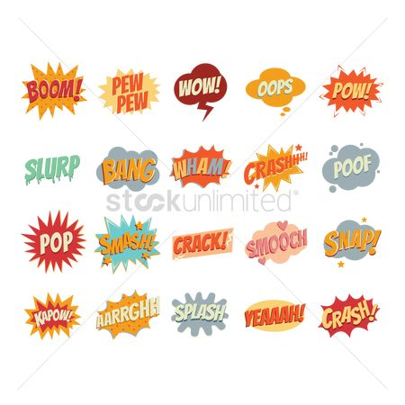 Pop : Set of comic speech bubbles