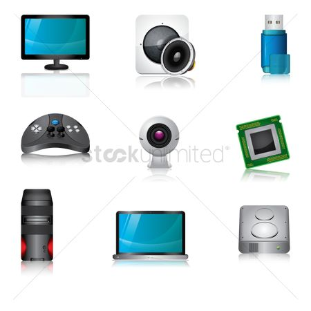Pendrive : Set of computer icons