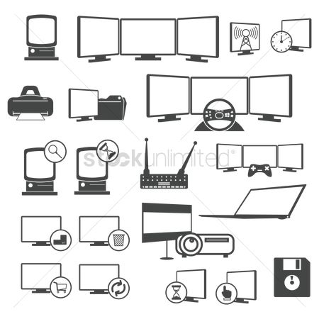 Refresh : Set of computer icons