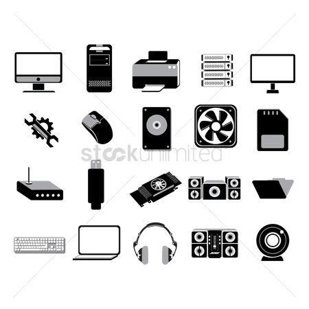 Routers : Set of computer icons