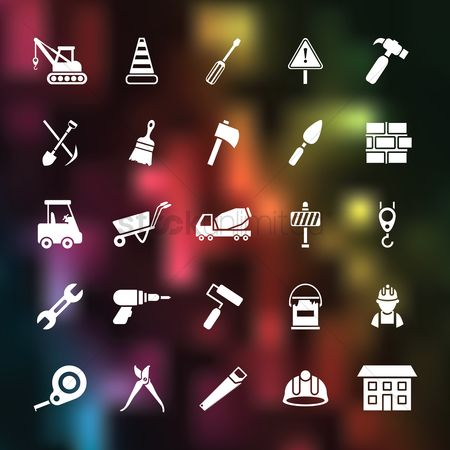 Spanner : Set of construction icons