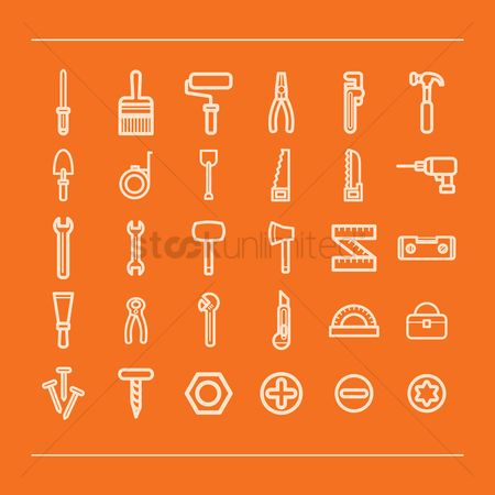 Hardwares : Set of construction icons