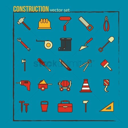 Footwears : Set of construction icons