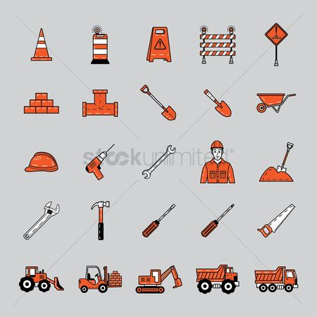 Machineries : Set of construction icons