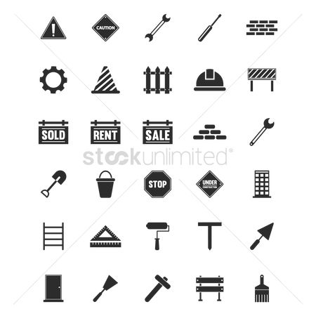 Sledgehammer : Set of construction icons