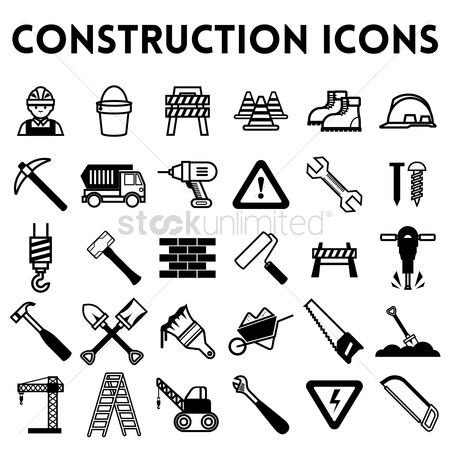 Footwear : Set of construction icons