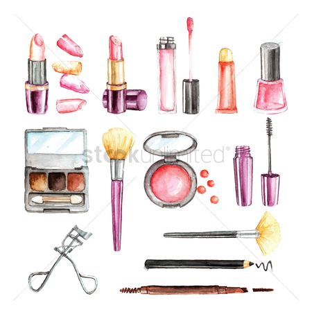 Brushes : Set of cosmetics