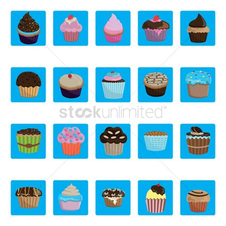 Biscuit : Set of cupcakes