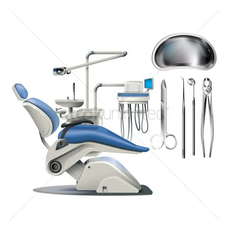 Dentist : Set of dental equipment