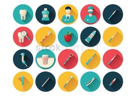 Surgeon : Set of dental icons