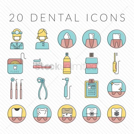 Clean : Set of dental icons