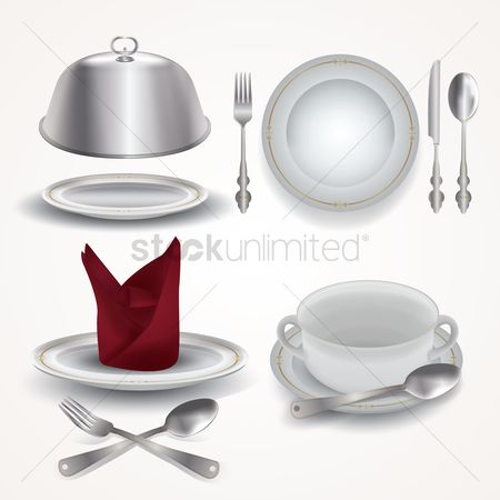 Dishes : Set of dining items