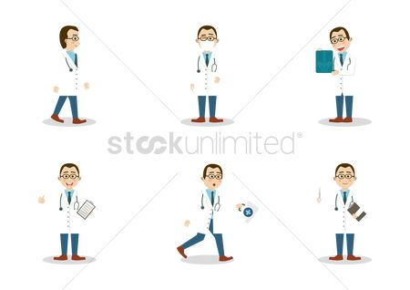 Hospital : Set of doctor icons