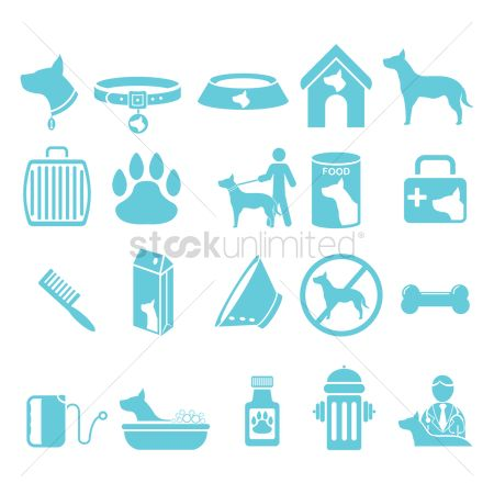 Doctor : Set of dog icons