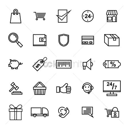 Password : Set of e-commerce icons