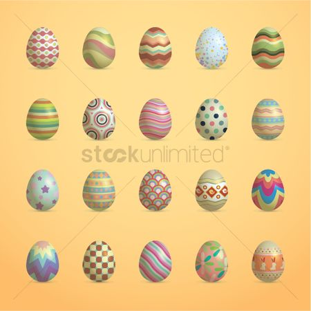 Multicolor : Set of easter icons