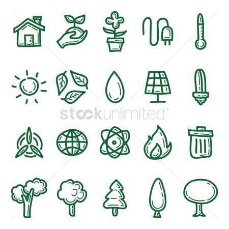 Hospital : Set of eco icons