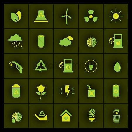 Fuel : Set of ecological icons