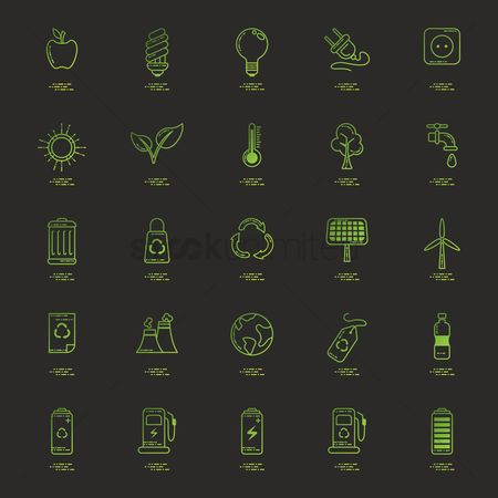Fuel : Set of ecology icons
