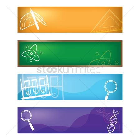Dna : Set of educational banners