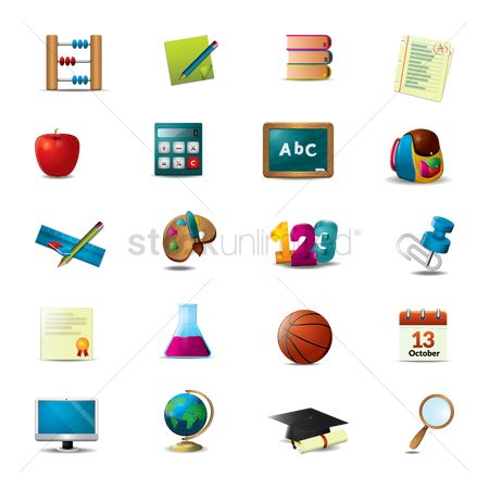 Blackboard : Set of educational icon