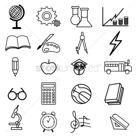 Calculator : Set of educational icons