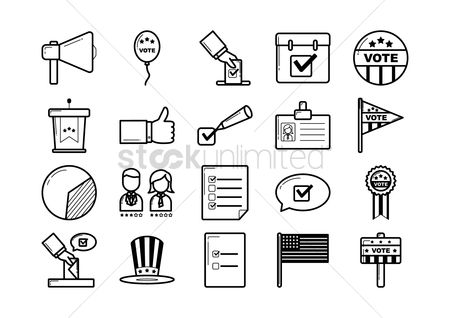 Mics : Set of election icons