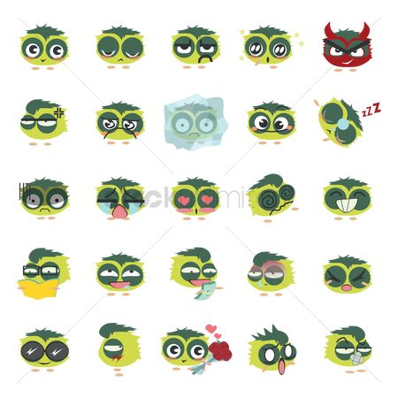 Devils : Set of emoticons