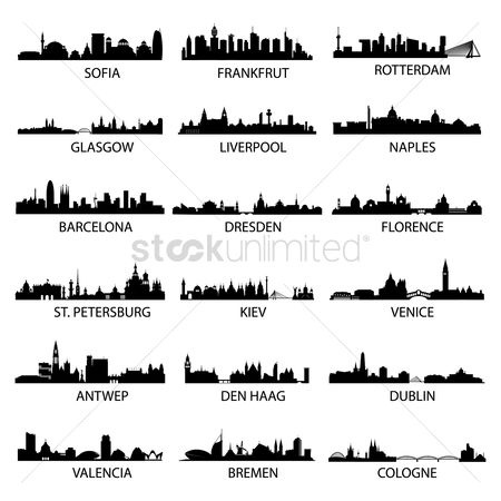 Buildings : Set of european cities