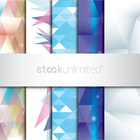 Gradients : Set of faceted backgrounds