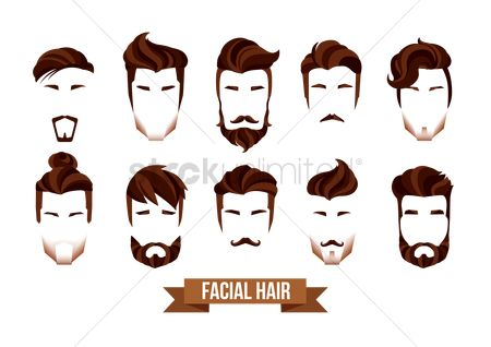 Fashions : Set of facial hair