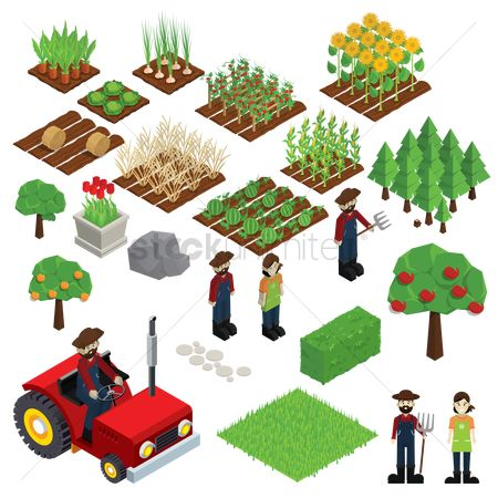 Agriculture : Set of farm icons