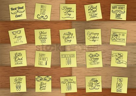 Fonts : Set of father s day icons