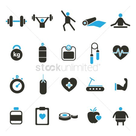 Guys : Set of fitness icons