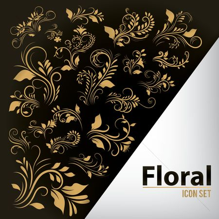 Classic : Set of floral icons