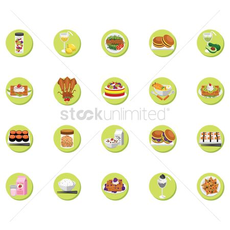 Mangoes : Set of food icons