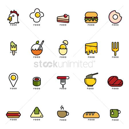 Coffee cups : Set of food icons