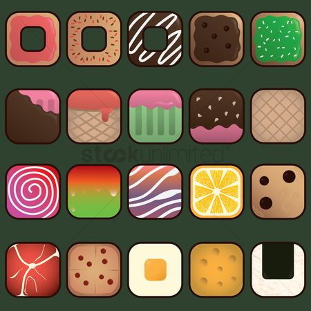 Dairies : Set of food icons