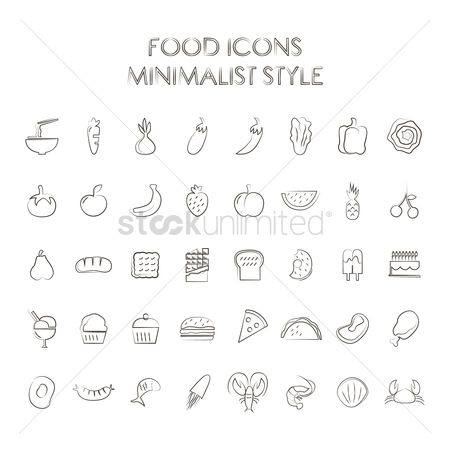Watermelon slice : Set of food icons