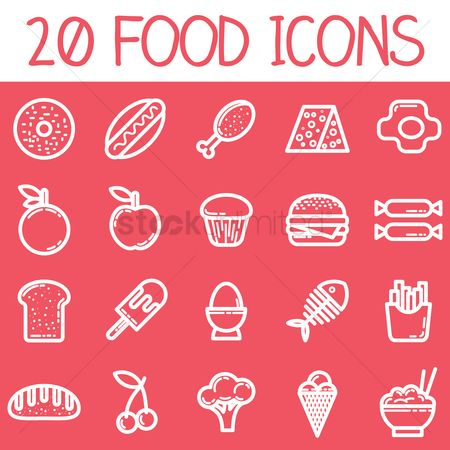 Baguettes : Set of food icons