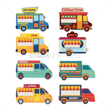 Businesspeople : Set of food truck icons
